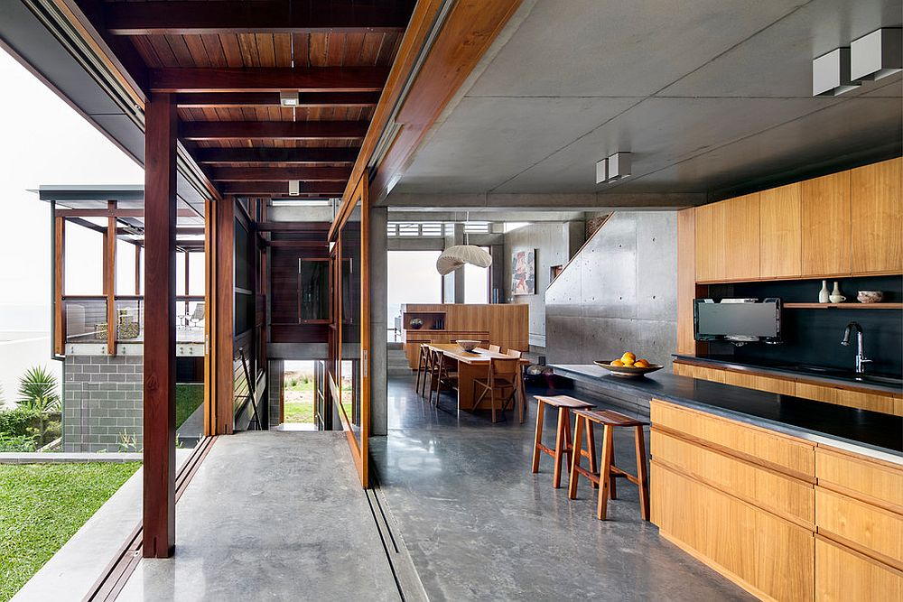 Concrete serves both the indoors and the outdoors with ease