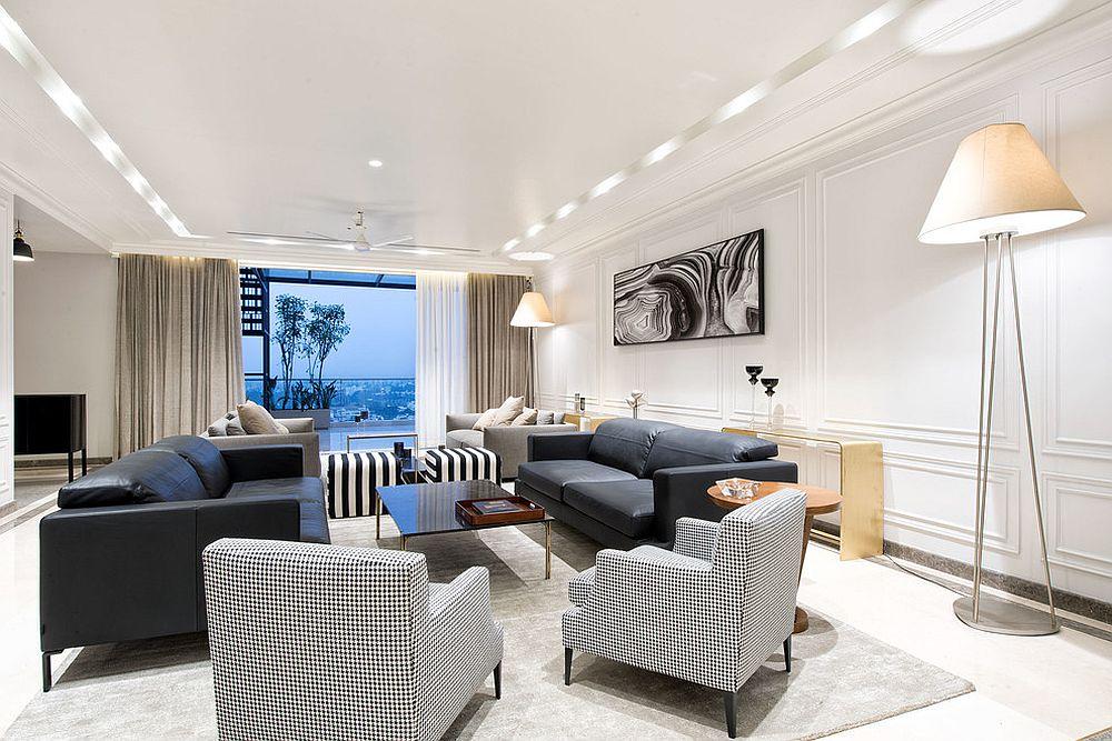 Contemporary-living-room-of-apartment-in-Bengaluru
