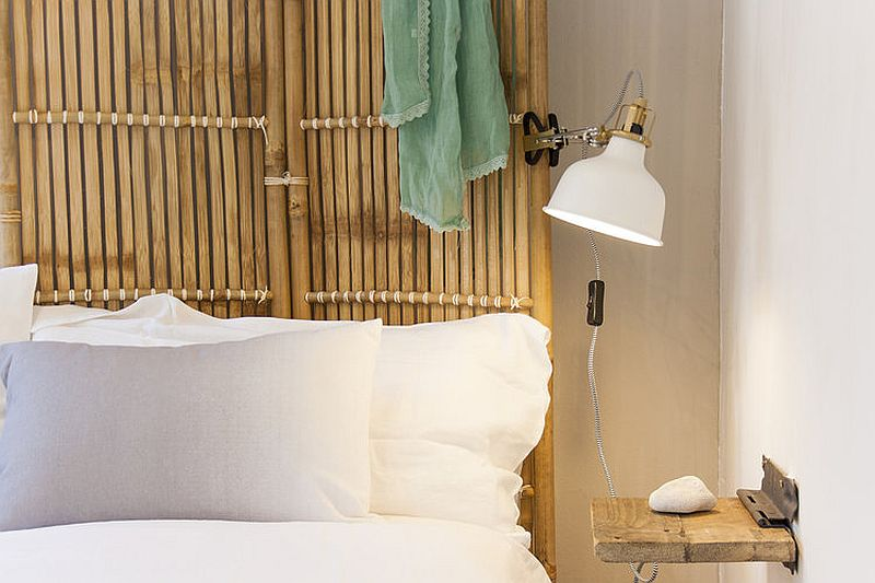 Custom wood and rattan furniture for the beach style bedroom
