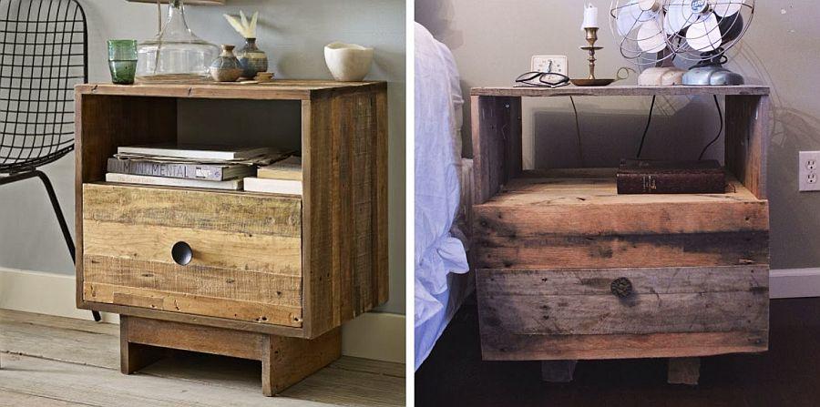 DIY nightstand inspired by West Elm Pallet Wood Nightstand