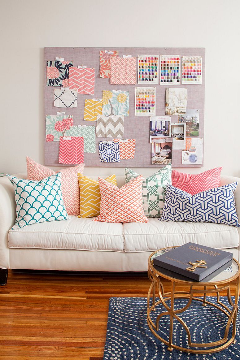 Decorate the eclectic home office with pastel power!