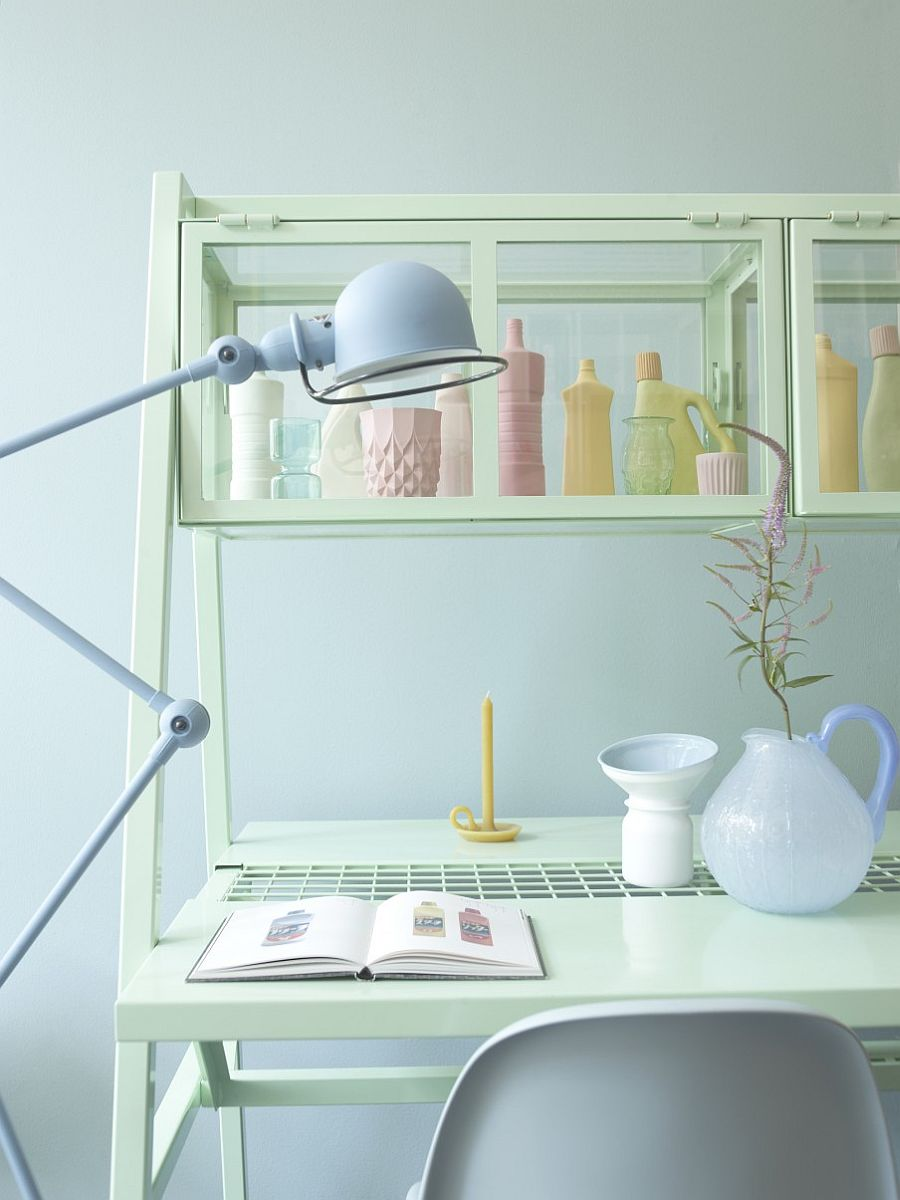 Decorating the home office in delicate and stylish pastels!