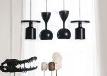 Elegant and striking contemporary pendants in black and gold 217x155 Elegant Trio Of Contemporary Pendants Deliver Textural and Geometric Contrast