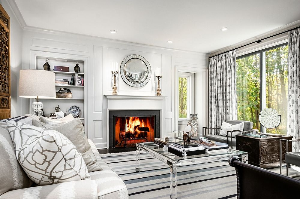 20 monochromatic living rooms in white full of personality - Images of living room decor ...