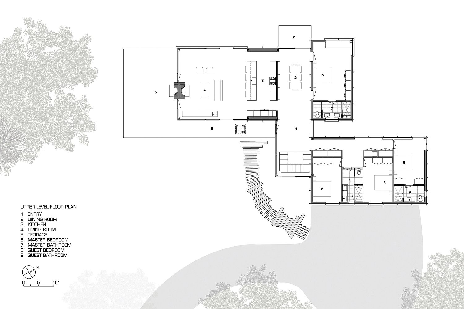 Floor plan of the exquisite Michigan Lake House