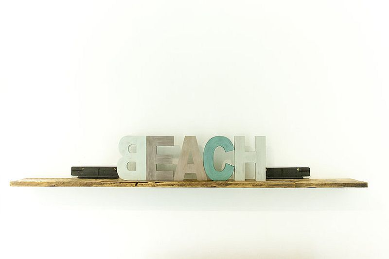 Fun decorating elements with beach style
