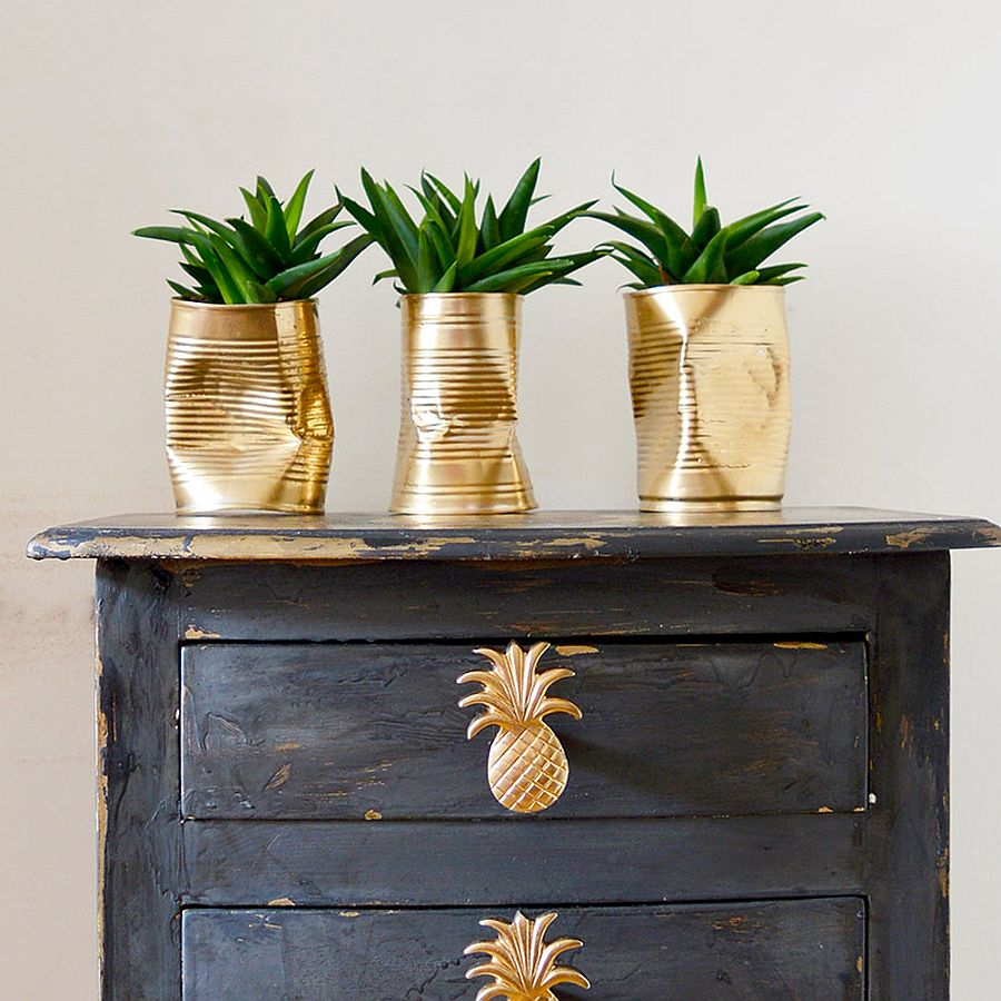 10 DIY Planters that Usher in Metallic Dazzle Along with ...