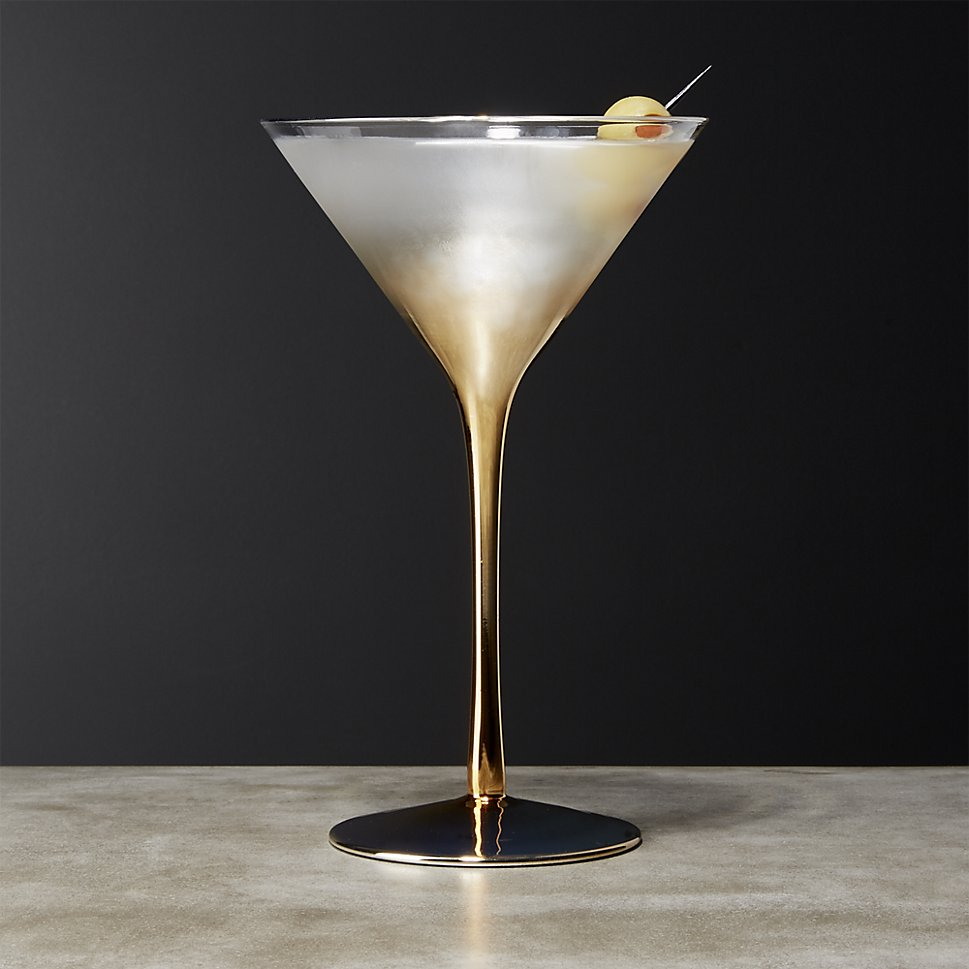 Gold martini glass from CB2
