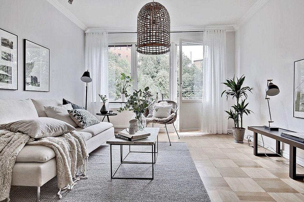 Gorgeous-Scandinavian-living-room-in-white