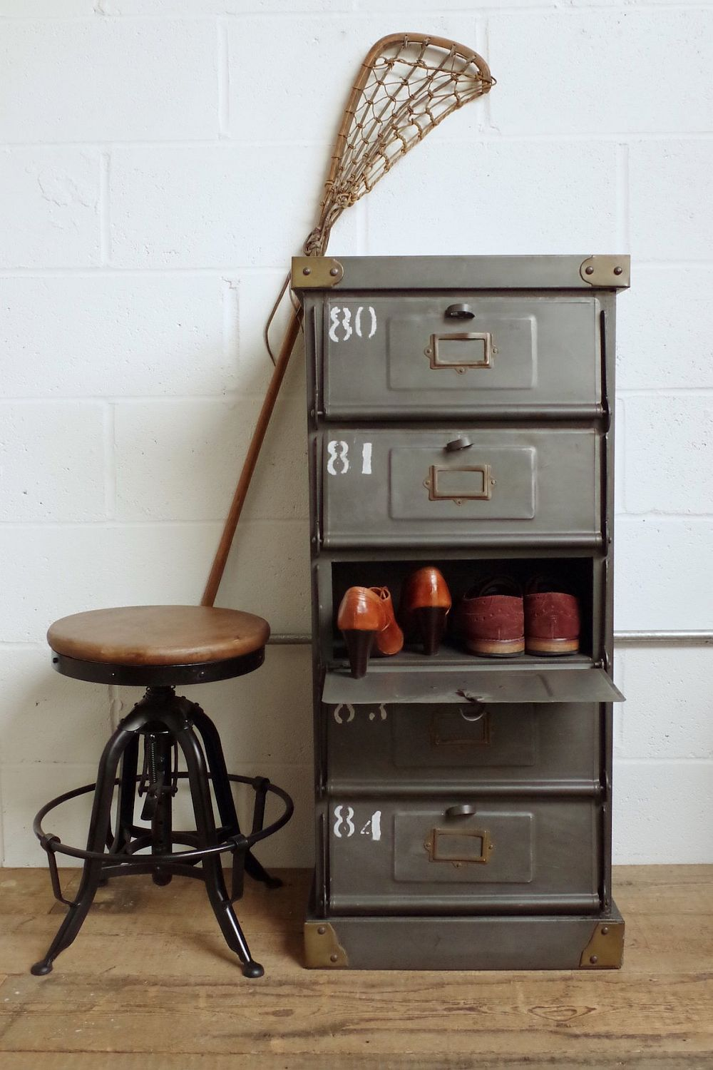 Industrial Mail Sorting Cabinet from VIncent and Barn
