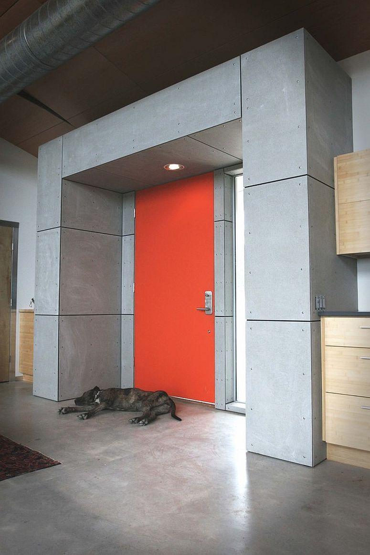 Industrial Front Doors : Orange front door painting ideas and inspirations that