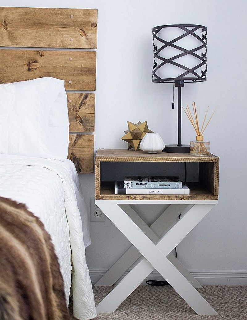 It is the base of this DIY nightstand that steals the show!