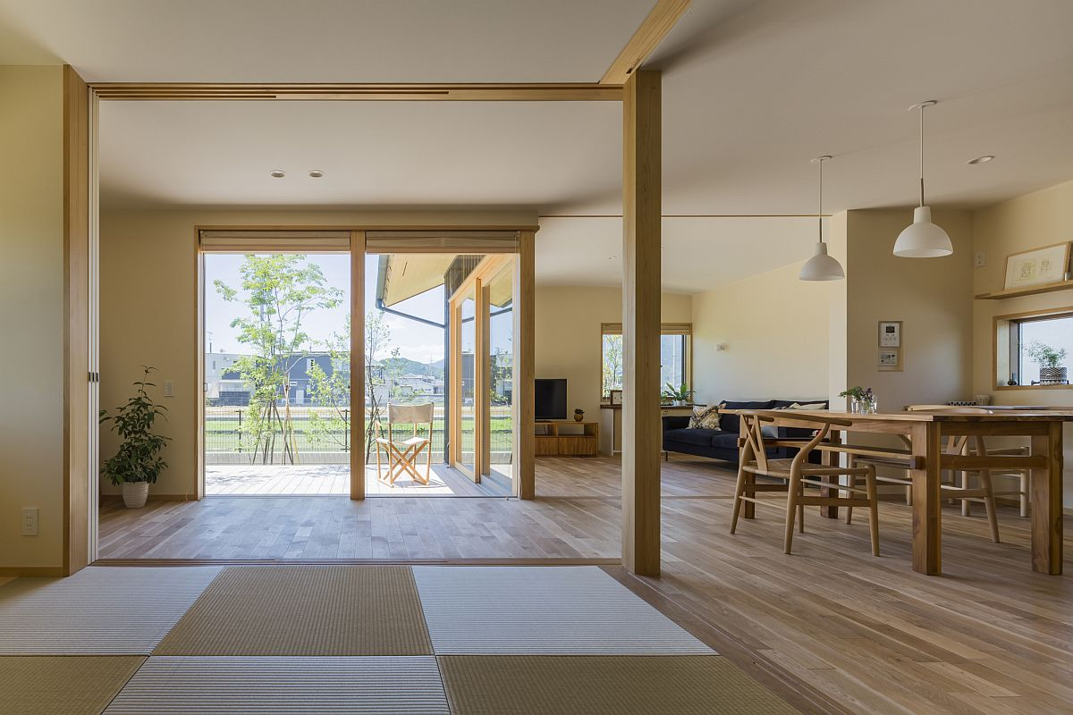 L-shaped cut out brings light into the home
