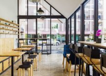 It Is A Coffee Shop That Greets You At This 245 Square Meter Office And A  Small Pantry Sits Next To It. A Large Garden On One Side And A Deck And  Smaller ...