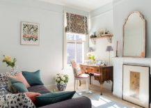 Light-filled-home-office-in-white-with-throw-pillows-bringing-in-pastel-hues-217x155