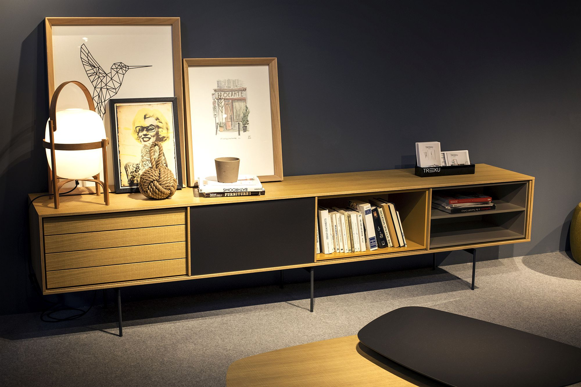 Midcentury modern sideboard can also offer storage space