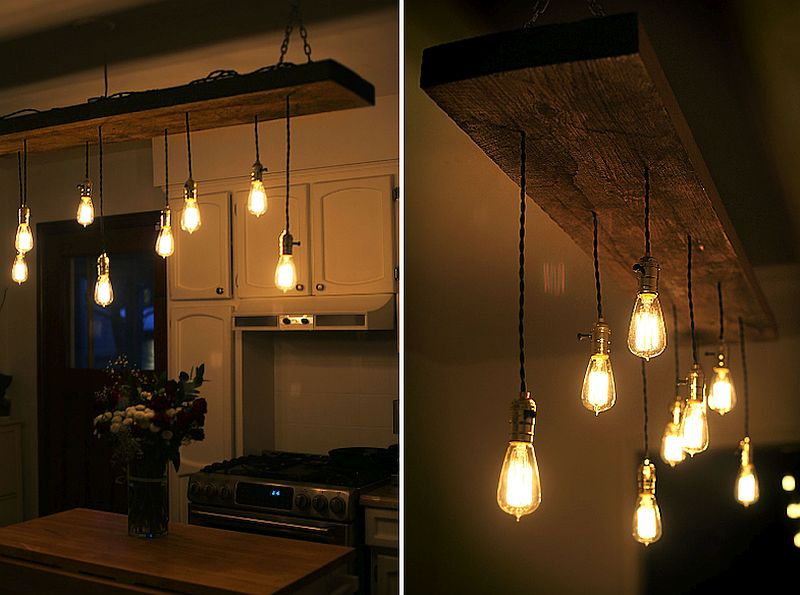 10 diy edison bulb lights and pendants that leave you dazzled view in gallery diy reclaimed lumber hanging edison bulb chandelier view in gallery mozeypictures Images
