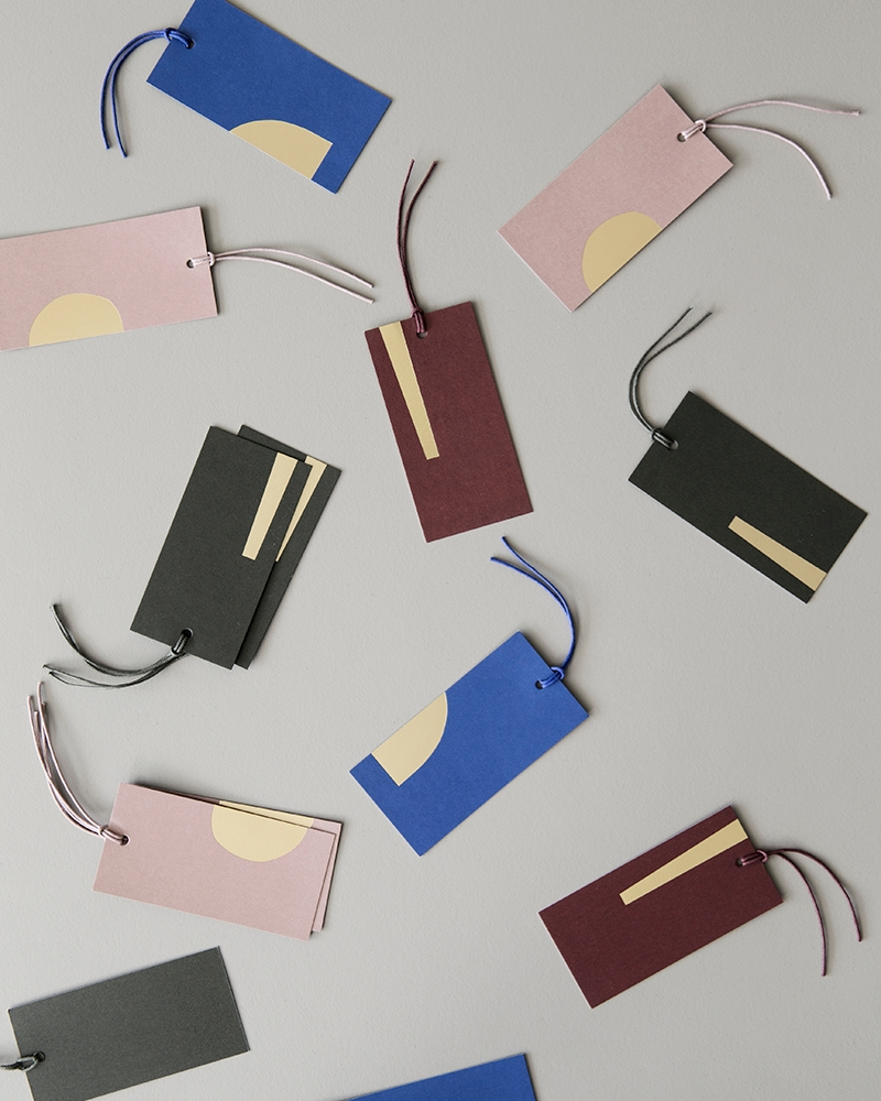 Modern gift tags from ferm LIVING