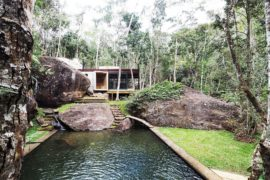 Natural Swimming Pool Set in a Green Landscape Gets a Multi-Tasking Pavilion