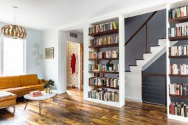 For the Love of Books and Music: Spacious Revamp of Aged Brooklyn Rowhouse