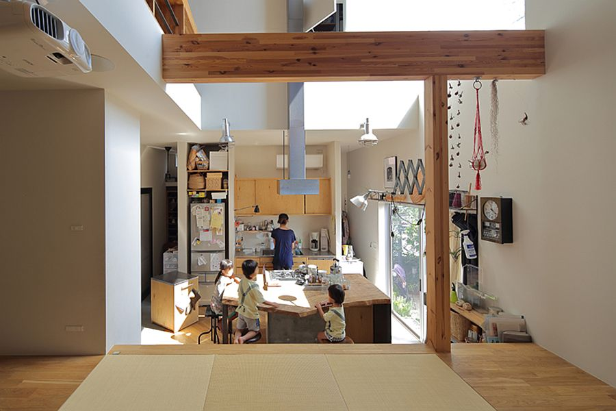 Multi-level interior of the Japanese home