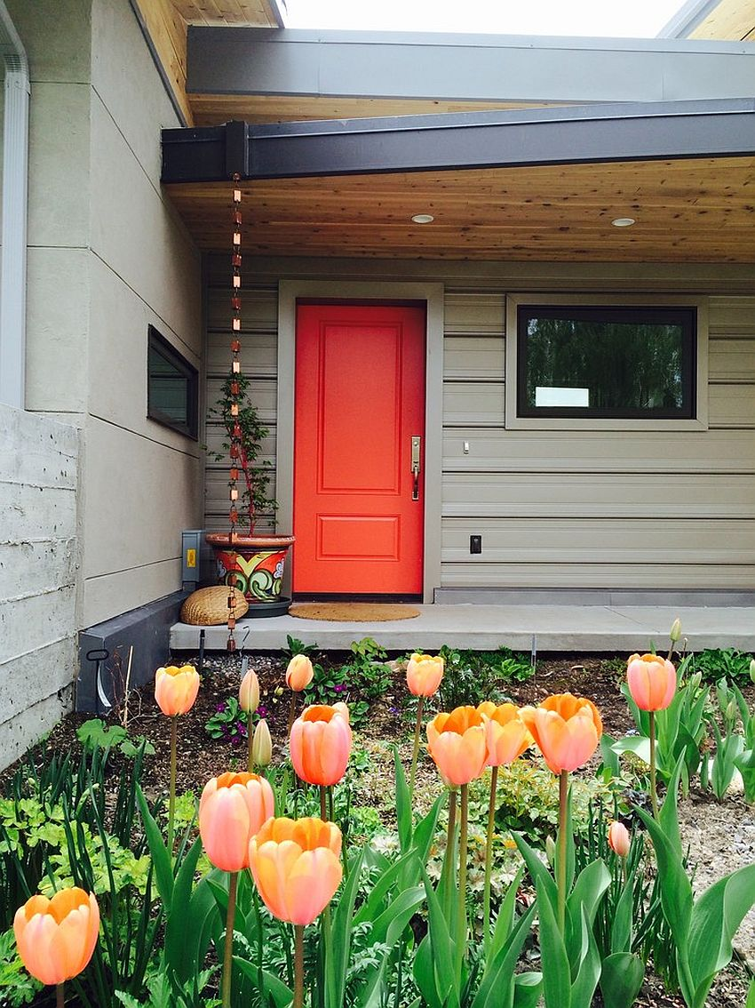 15 Orange Front Door Painting Ideas And Inspirations That