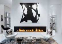 Polished-living-room-of-Bleecker-Street-Loft-with-a-dazzling-fireplace-217x155