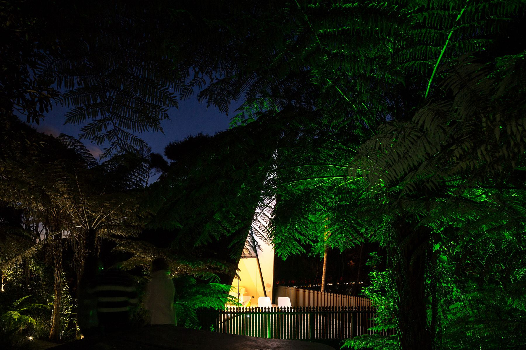 Rainforest landscape around the Tent House adds to its unique aura