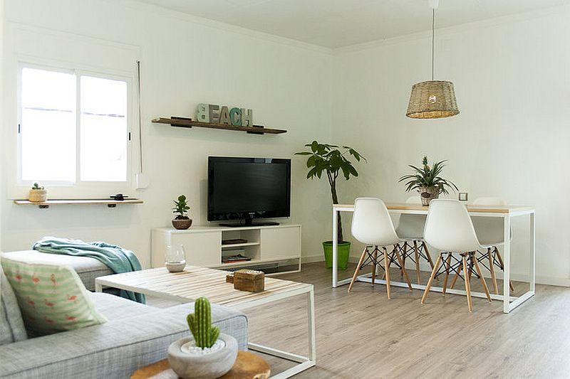 Small living area of Alooha House in Barcelona