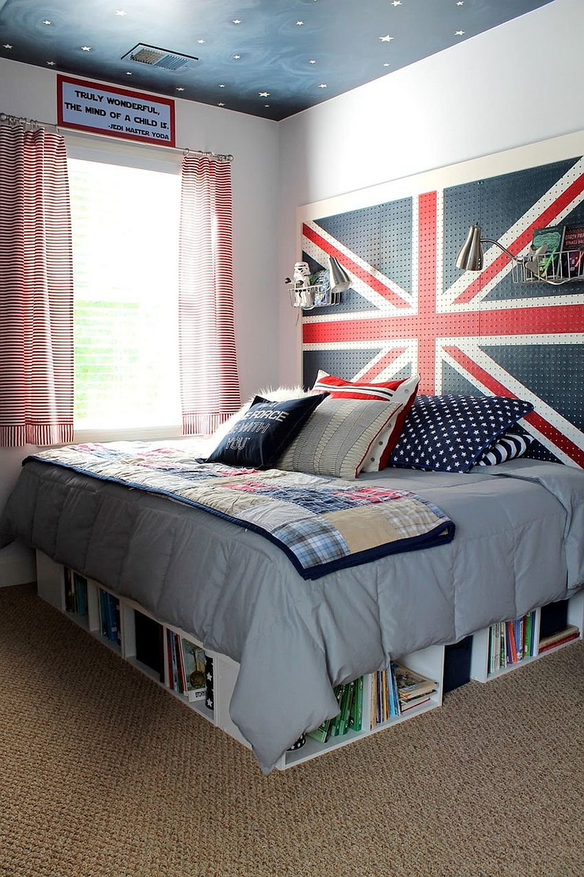 15 stylish ways to add the union jack to the kids room for Ample storage