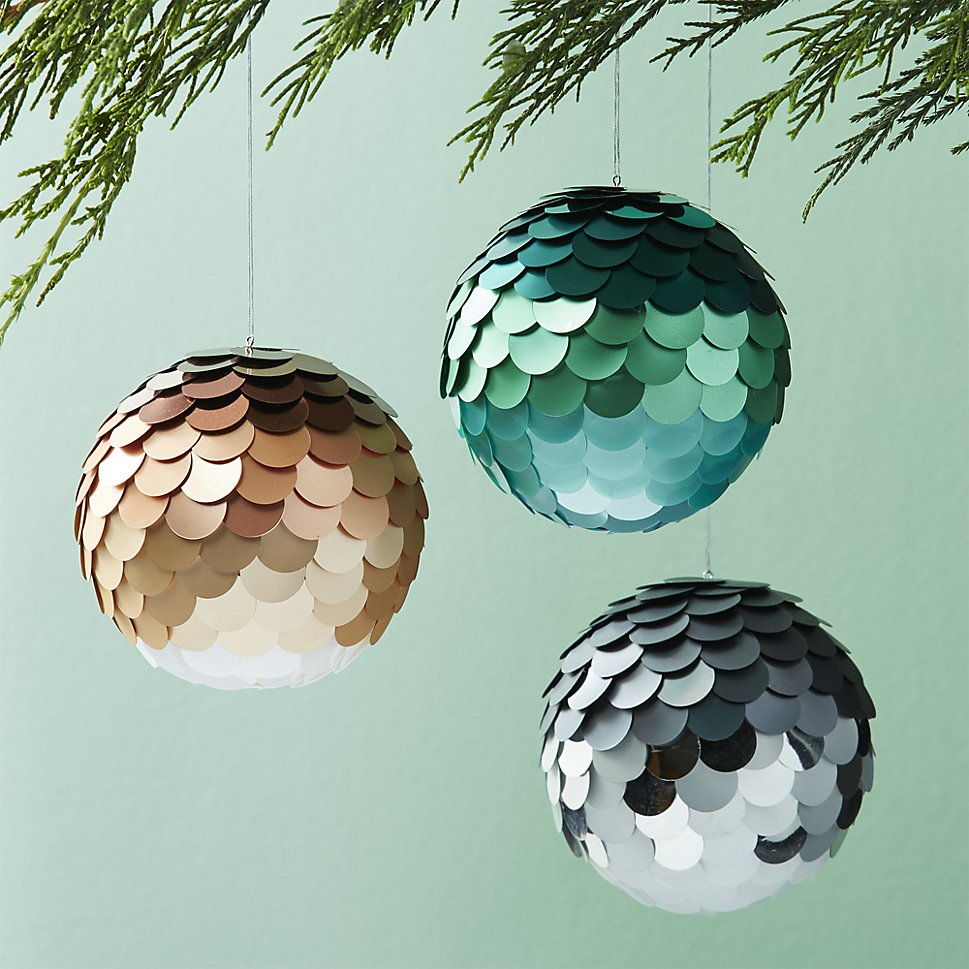 Sparkly ball ornaments
