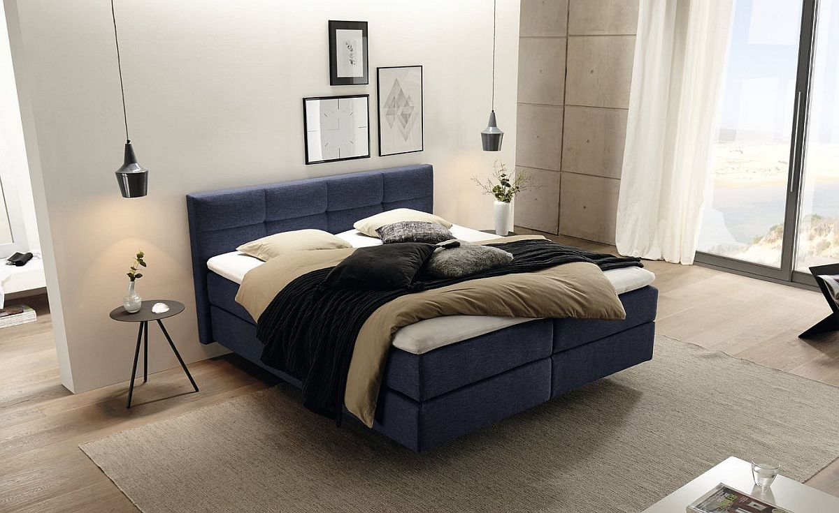 Ultra-comfortable and modern Boxspring bed from Hulsta