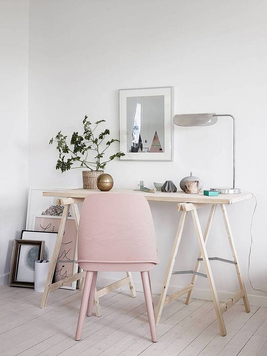 Using decor in light pink to usher in pastel panache