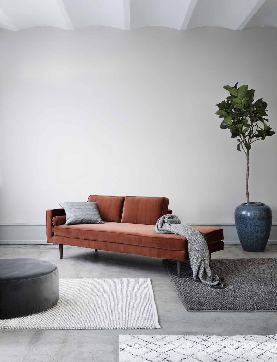 Wind pouf and chaise longue