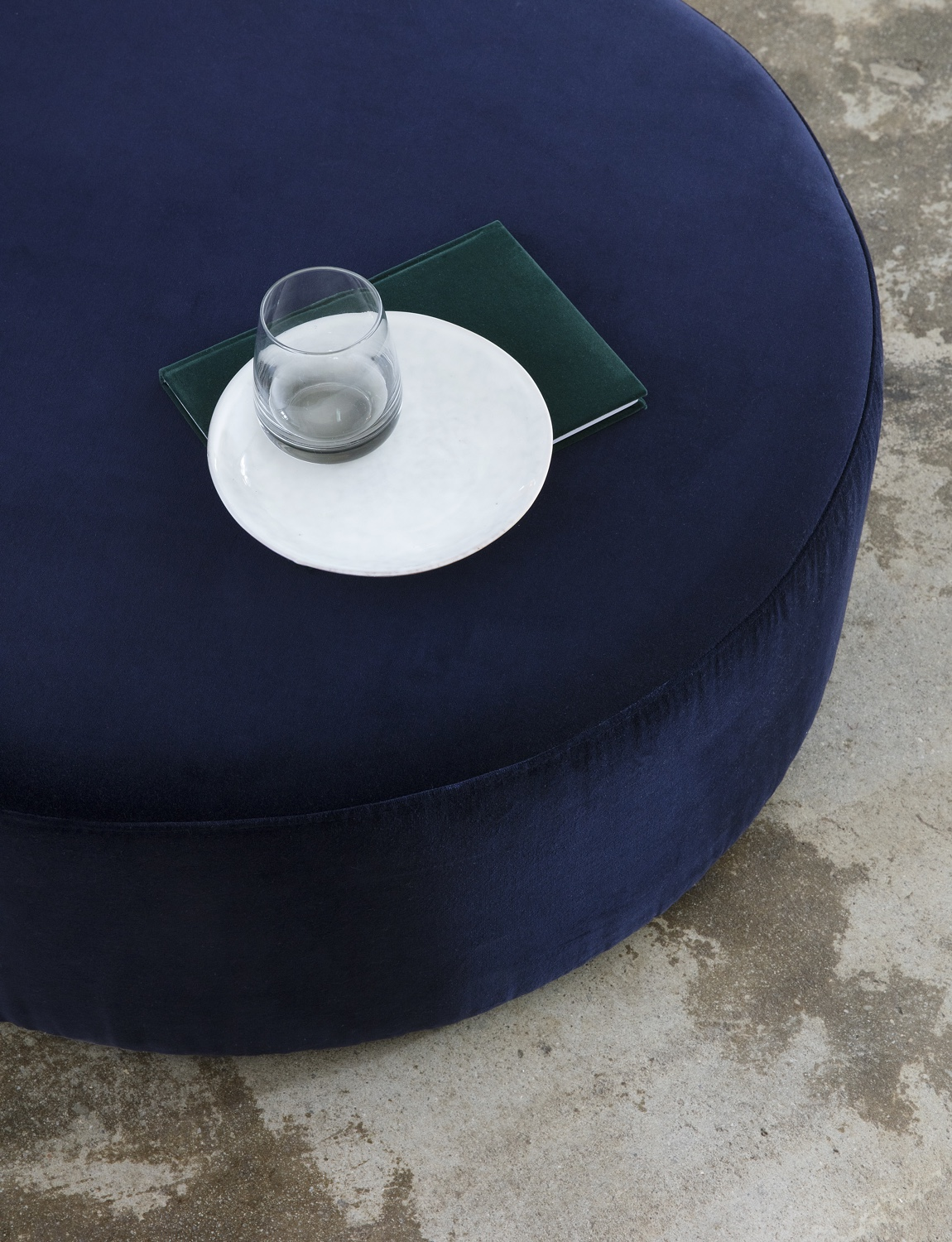 Wind pouf Six Brands Drape Furniture with Velvet