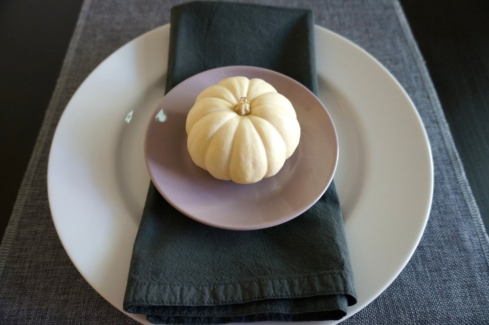 A Halloween place setting