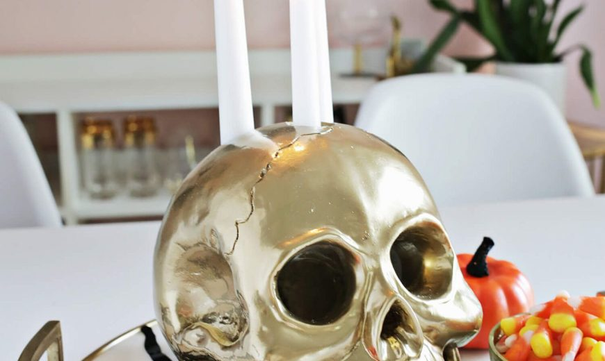 Bone, Blood and Dark Radiance: 13 Creepy DIY Halloween Candle Ideas