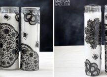 A-touch-of-wicked-DIY-Halloween-painted-candles-in-black-and-white-217x155