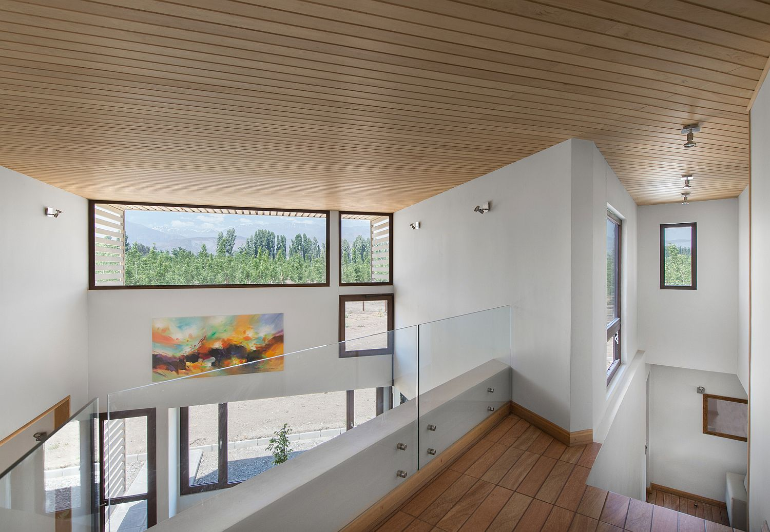 Clerestory windows usher in ample natural light