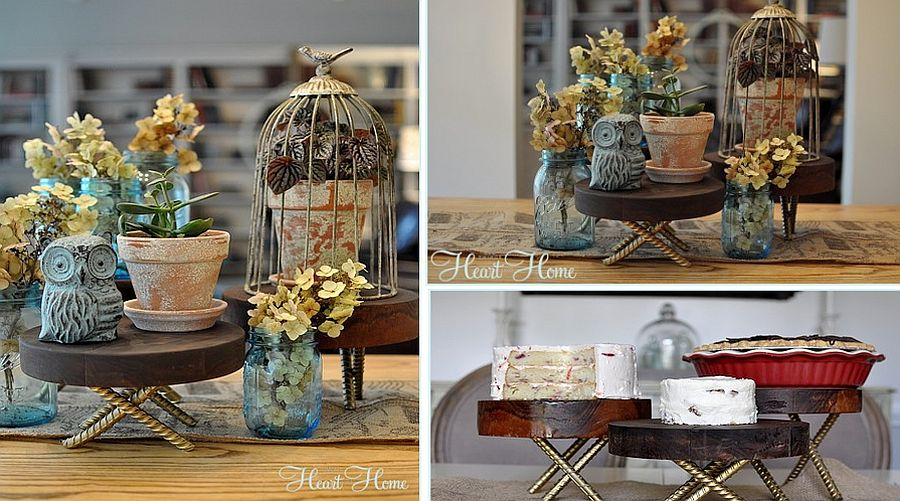 Cool and stylish DIY rustic wood pedestals