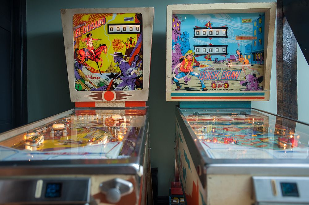 Couple those pinball machines with quirky, colorful posters