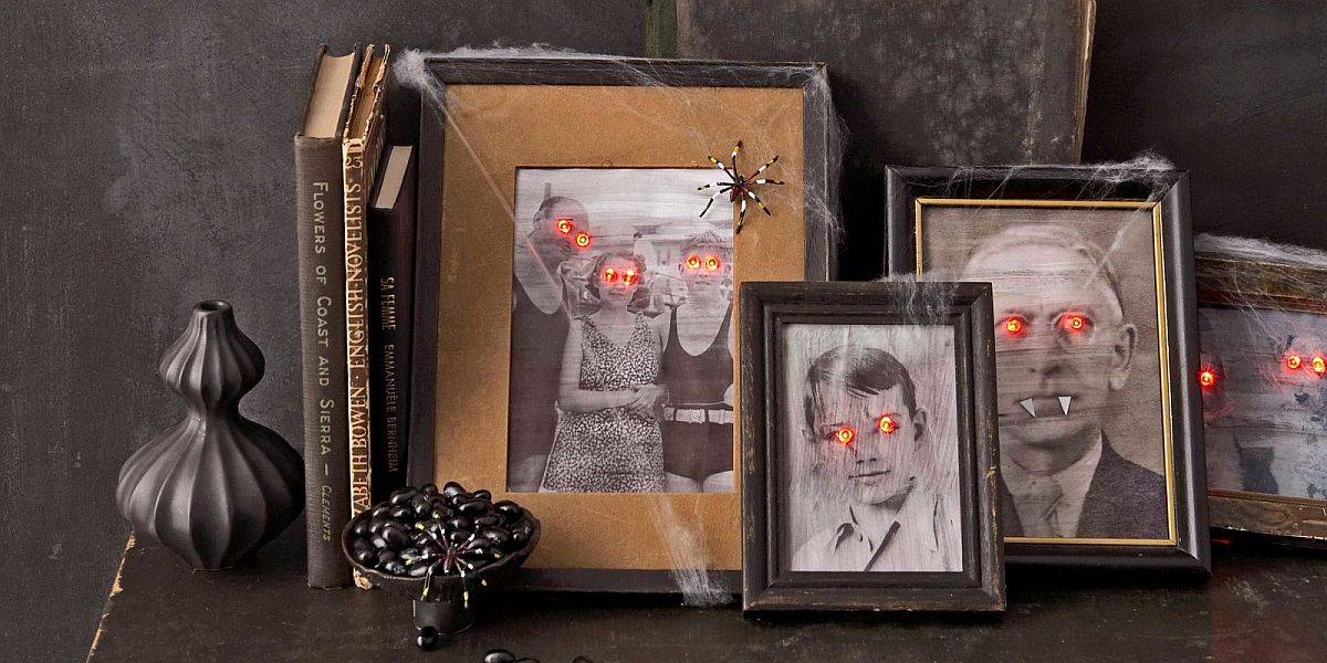 Creepy Halloween portraits also draw a chuckle from your family and friends