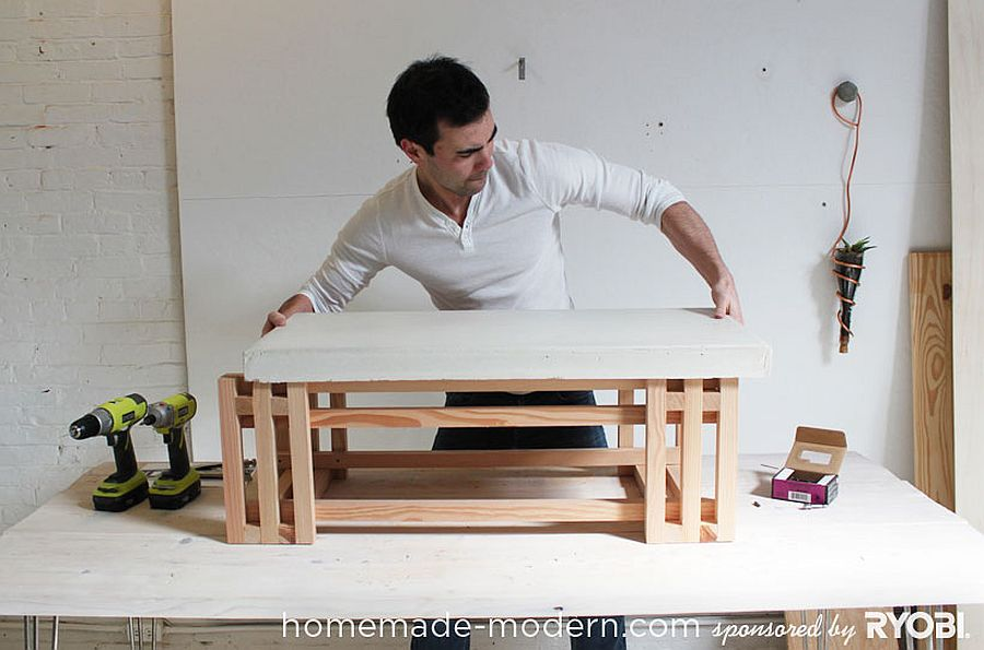 DIY Concrete and Wood Coffee Table idea