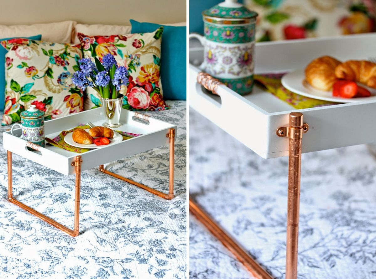 DIY-Copper-piping-breakfast-tray-is-a-super-cool-gift-to-craft