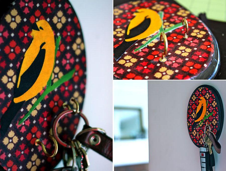 DIY Decoupage Key Holder full of colorful zest