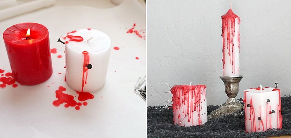DIY Halloween Bleeding Candles are super-easy to craft