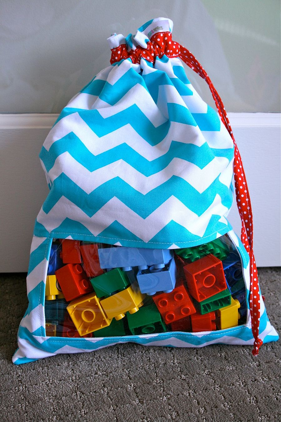 DIY Peek-a-boo Toy Sack Tutorial