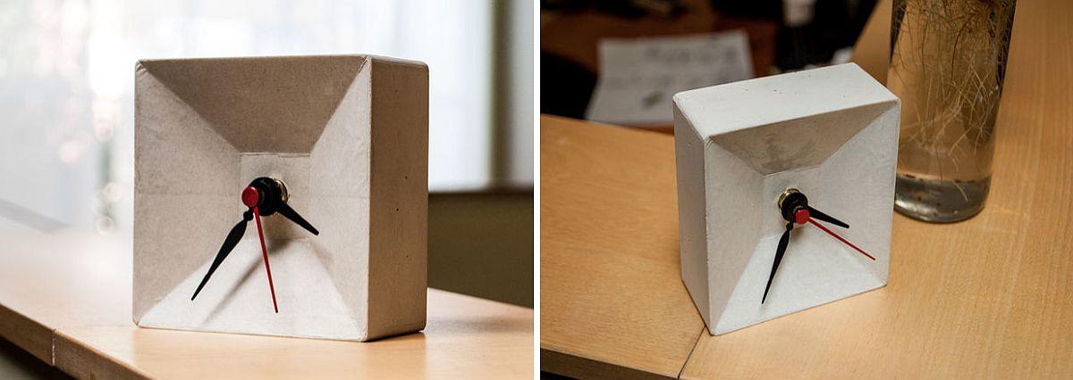 DIY concrete clock idea