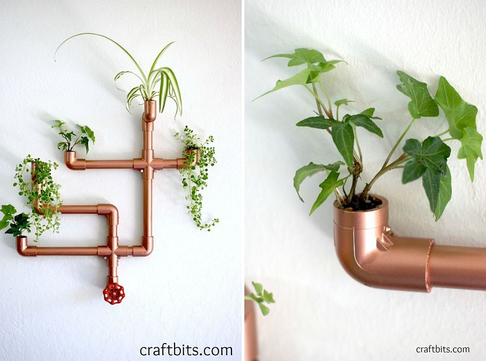 DIY-copper-pipe-wall-planter-brings-metallic-glitz-and-green-to-your-home