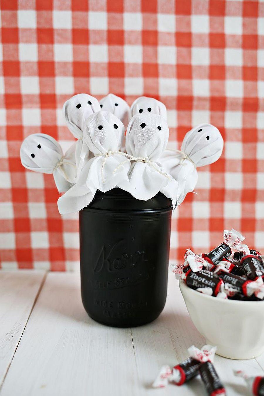 DIY ghost Lollipop bouquet